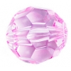 Acrylic Bead Facetted Round Shape 20mm Light Pink
